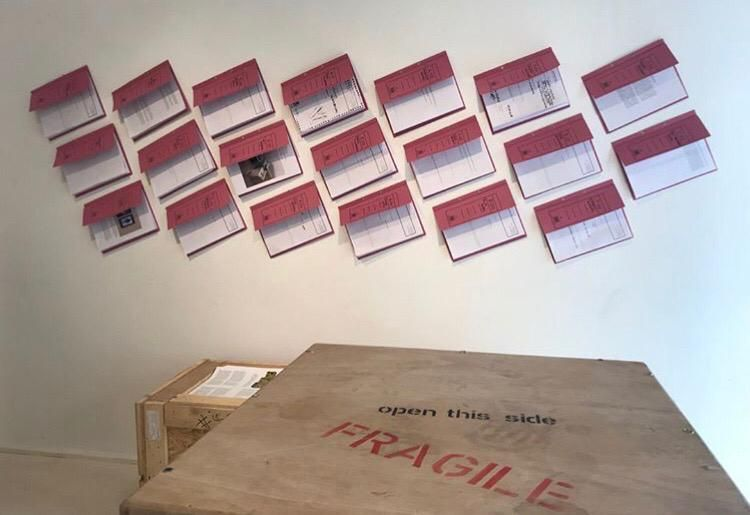 "04/10/2018 - Burçak Bingöl at NOKS Independent Art Space with the exhibition titled ""A Future of Travel. The Journey of the Artwork"", Istanbul"