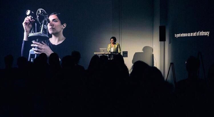 29/08/2019 - Heba Y. Amin with her works and lecture at DAAD Gallery, Berlin