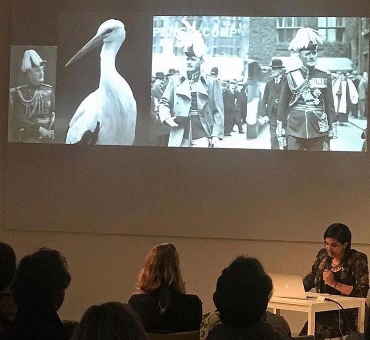 19/04/2019 - Heba Y. Amin at Foundation Thalie with her lecture performance 'The General's Stork', Ixelles