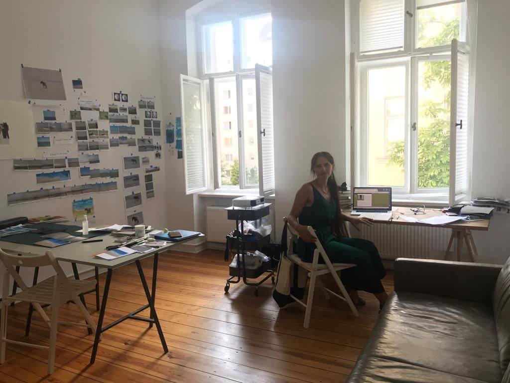 29/08/2019 - Janet Bellotto as artist-in-residence at Zilberman Gallery-Berlin