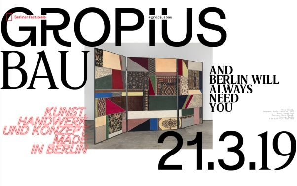 06/03/2019 - Simon Wacshmuth participates in the exhibition 'And Berlin Will Always Need You. Art, Craft and Concept Made in Berlin' at Gropius Bau, Berlin